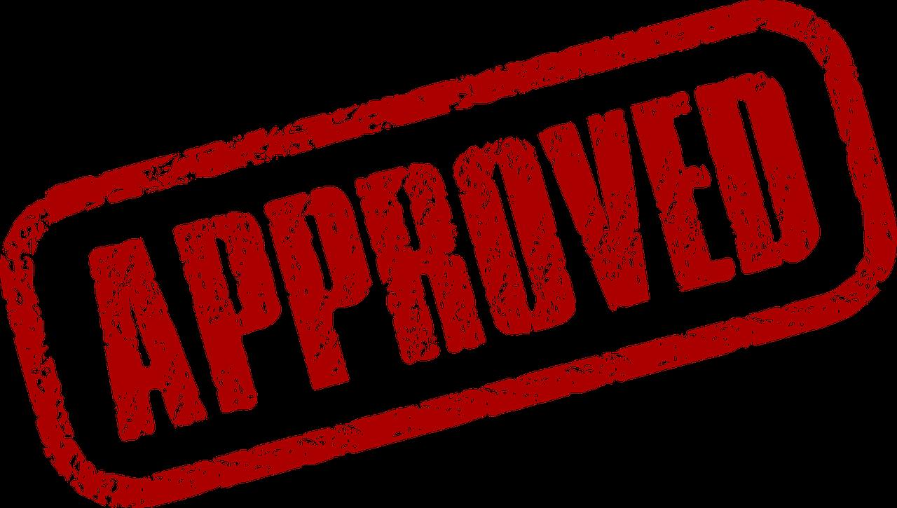 approved timbro di approvazione