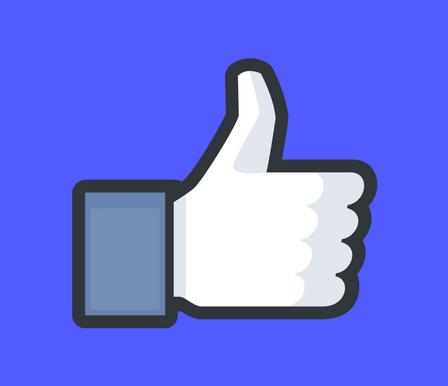 Icona mi piace su pagina Facebook