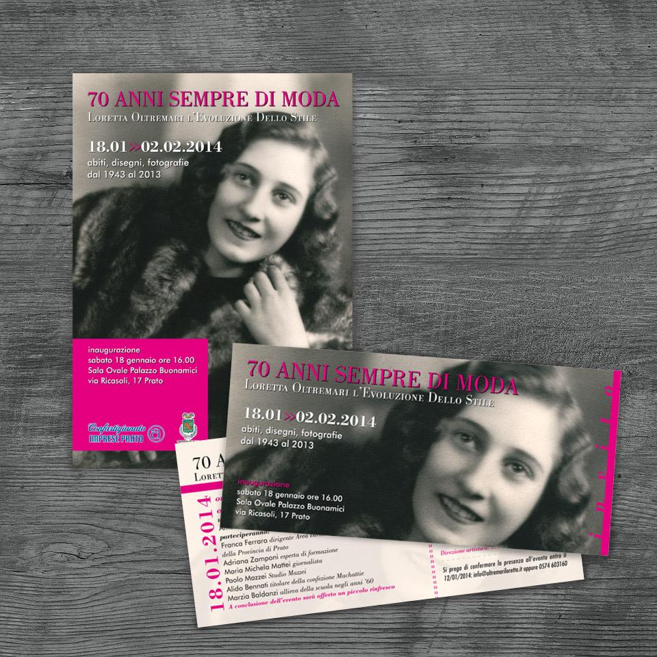 Campagna pubblicitaria per mostra Scuola di Moda Loretta Oltremari