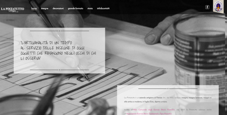 immagine home page del sito La Pintatutto insegne a Firenze