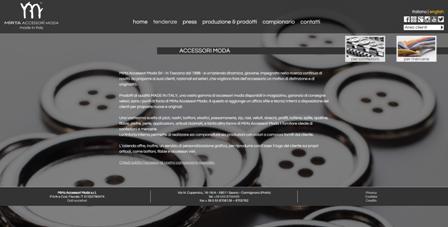 immagine home page del sito mirta accessori