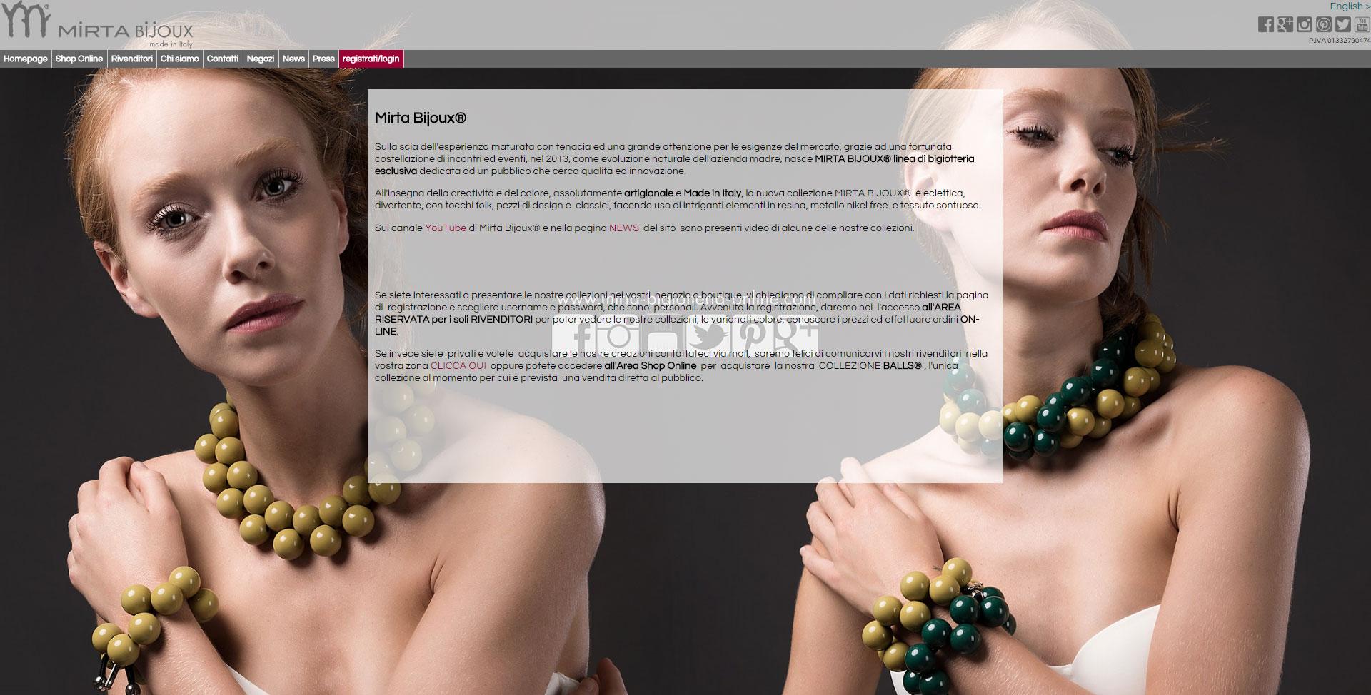 immagine home page del sito mirta bijoux