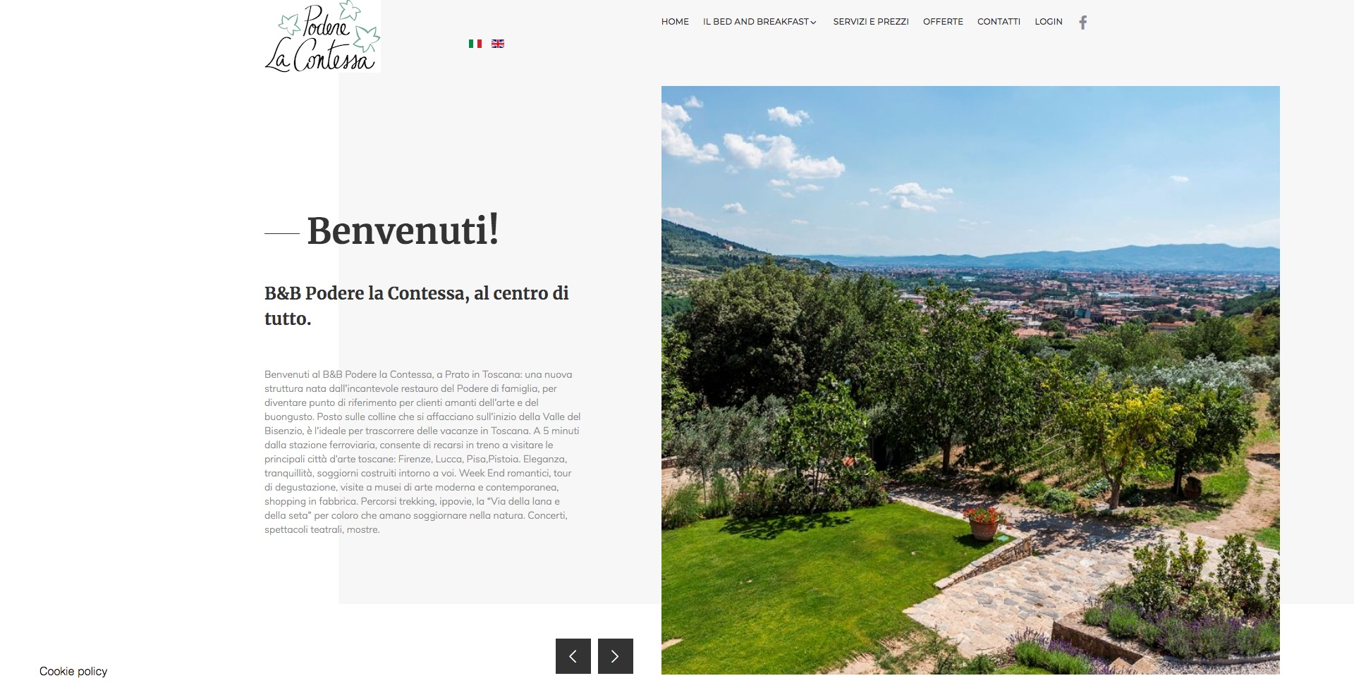immagine home page del sito Podere la Contessa