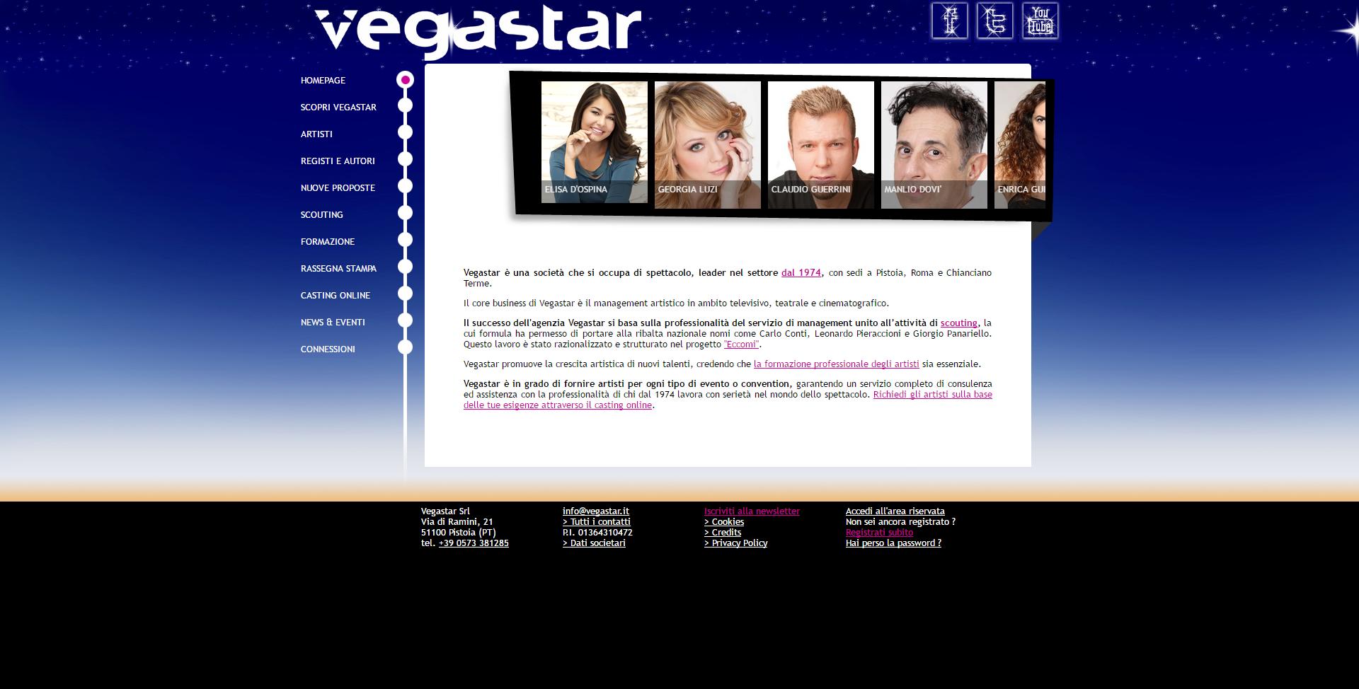 immagine home page del sito Vegastar